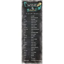 Life Lines Wine & Cheese Pairings Chalkboard Textual Art Plaque