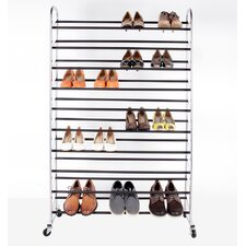 Sturdy Rolling Shoe Rack with Non Slip Bars