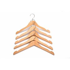 Solid Beech Wooden Coat/Jacket/Clothes Hanger (Set of 10)