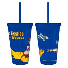 Beatles Yellow Submarine Color Wall Straw Tumbler