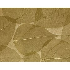 "Dynasty Naturals 24' x 36"" Leaves Wallpaper"
