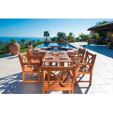 Malibu 7 Piece Dining Set