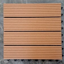 "Composite Teak 12"" x 12"" Deck Tiles (Set of 11)"