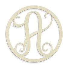 Single Letter Circle Monogram Hanging Initial
