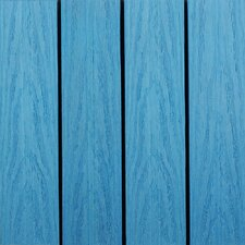 "Naturale Composite 12"" x 12"" Interlocking Deck Tiles in Caribbean Blue (Set of 10)"