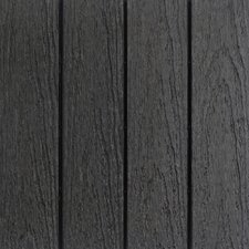 """Naturale Composite 12"""" x 12"""" Interlocking Deck Tiles in Charcoal (Set of 10)"""