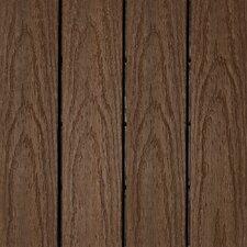 """Naturale Composite 12"""" x 12"""" Interlocking Deck Tiles in Brazilian Ipe (Set of 10)"""