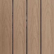 "Naturale Composite 12"" x 12"" Interlocking Deck Tiles in Canadian Maple (Set of 10)"