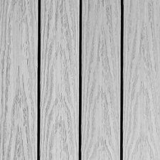 "Naturale Composite 12"" x 12"" Interlocking Deck Tiles in Icelandic Smoke White (Set of 10)"
