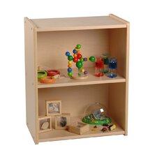 Wood Laminate 2 Level Compact Storage Shelf Unit