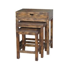 Handmade Larry, Curly and Moe 3 Piece Nesting Tables