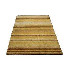 Hand Tufted Striped Wool Brown/ Beige Area Rug