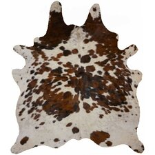 Natural Cowhide Tricolor Salt & Pepper Area Rug