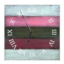 "Roman White Rose 27"" Oversized Wall Clock"