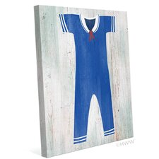 Vintage Sailor Outfit Illustration Graphic Art on Canvas