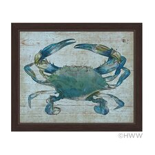 Crab Framed Graphic Art on Canvas