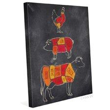 Parts Of Farm Animals Graphic Art