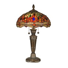 "Pearce Dragonfly 24.75"" H Table Lamp with Bowl Shade"