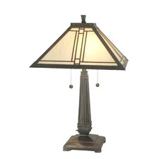 """Lined Mission 24.5"""" H Table Lamp with Empire Shade"""