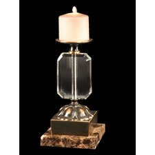 Florence Crystal, Marble and Metal Candlestick