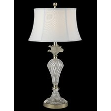 "Snowflake 27.8"" H Table Lamp with Bell Shade"
