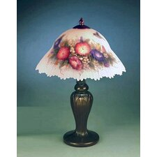 "Glynda Turley Hummingbird and Flower 19"" H Table Lamp with Bowl Shade"