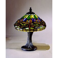 "Miniature Dragonfly 11"" H Table Lamp with Empire Shade"