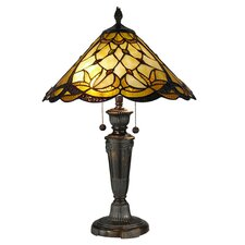 "Villoria 24.5"" H Table Lamp with Cone Shade"