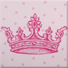 Crown Imagination Square Pink Canvas Art