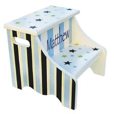 2-Step Manufactured Wood Personalized Stars and Stripes Step Stool