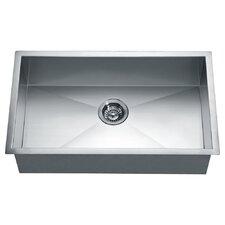 "33"" x 18"" Under Mount Square Single Bowl Kitchen Sink"