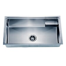 "33.13"" x 19.19"" Under Mount Small Corner Radius Single Bowl Kitchen Sink"