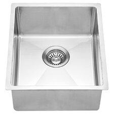 """17.25"""" x 14.88"""" Under Mount Single Bowl Kitchen Sink"""