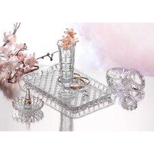 4 Piece Crystal Vanity Set
