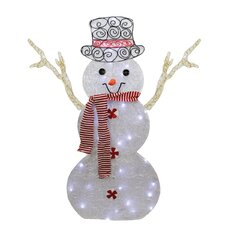 Icy Snowman in Top Hat Christmas Decoration