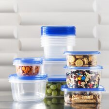 Wayfair Basics 34-Piece Plastic Food Storage Container Set