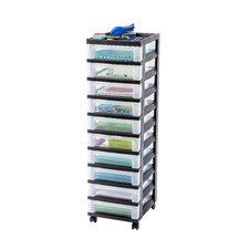 Wayfair Basics 10 Drawer Rolling Storage Cart