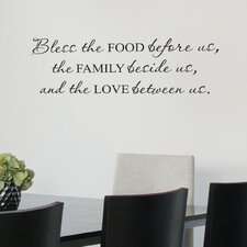 Bless Food Family Love Wall Decal