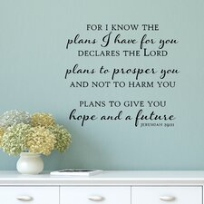 Plans to Give You Hope and a Future Wall Decal