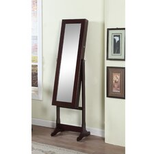 Home Deluxe Floor Standing Jewelry Armoire with Mirror