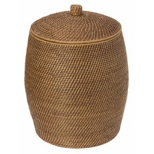 Beehive Rattan Laundry Hamper with Cotton Liner