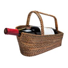 Nito 1 Bottle Wine Basket and Decanter