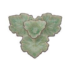 Authentic Celadon Maple Leaf Dish