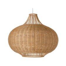 1 Light Wicker Pendant Lamp
