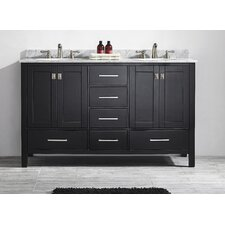 "Gela 60"" Double Bathroom Vanity Set"