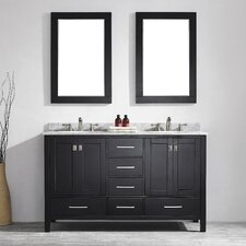 "Gela 60"" Double Bathroom Vanity Set with Mirror"