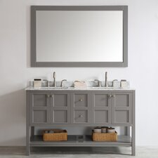"Florence 60"" Double Vanity Set with Mirror"