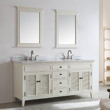 """Piedmont 72"""" Double Vanity Set with Mirror"""