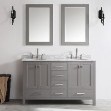 "Gela 60"" Double Vanity Set with Mirror"