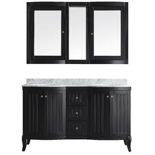 "Verona 60"" Double Vanity Set with Mirror"